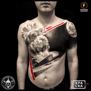 Trash polka #vladimircherep #kraskatattooink #tattooup #colortattoo #trashpolka #eztattooing #trashpolkatattoo #inkfreakz #blackandgrey #grindcore #tattooinmoscow #besttattoo #realistictattoo #brand #style #tattooinrussia #moscow #grindcoretattoo #владимирчереп #трэшполька #тату #бренд #стиль