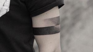 #band #bandtattoo #geometry #geometric #blackwork