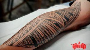 Freehand mixed Samoan, Maori back of knee to achilles #tattoo. #Samoan #Maori #Kirituhi #Polynesian #freehand #samoantattooartist #newzealandtattooist