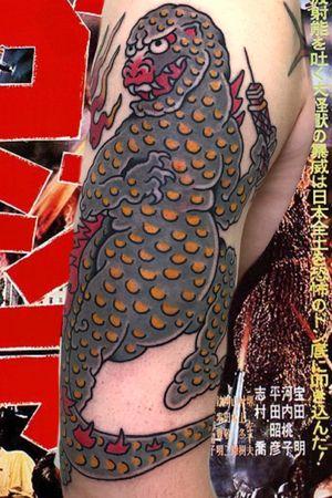 Godzilla #italianjapanesetattoo #top_class_tattooing #japanart #topttattooing #topclasstattoing #bright_and_bold #americanatattoos #italian_traditional_tattoo #friendship #realtraditional #inked #oriemtaltattoo  #tattoo #tattooes #tattooitaly #convention #tattoolife #tattoolifemagazine  #inkart  #tattooartistmagazine  #bologna #tattoobologna #bolognatattoo #horrorvacuitattoo #tatuaggibologna #tttism #japanesetattoo
