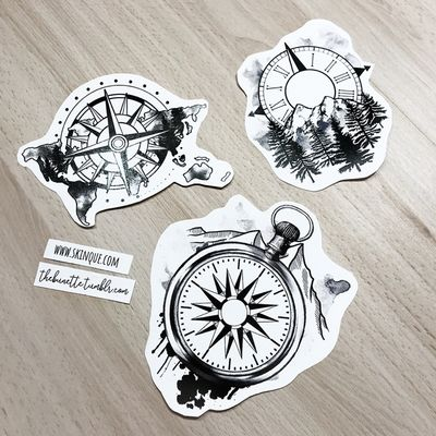 I made a Compass Collection so you can make your own compass tattoo! These are the ready-to-use designs that are includeed in the collection too! Go and get it www.skinque.com or ask for a commissions there too or help@skinque.com #blackwork #blackandgrey #compass #mountains #flowers #forest #tree #bird #travel #wanderlust #forearm #arrow #watercolor #clock #trashpolka #abstract #tree #worldmap #map #mountain #mountains