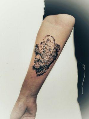 Skull and Bear