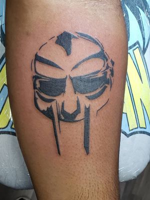 Just remember ALL CAPS when you spell the man name #DOOM #MFDOOM #blackwork #tattoo