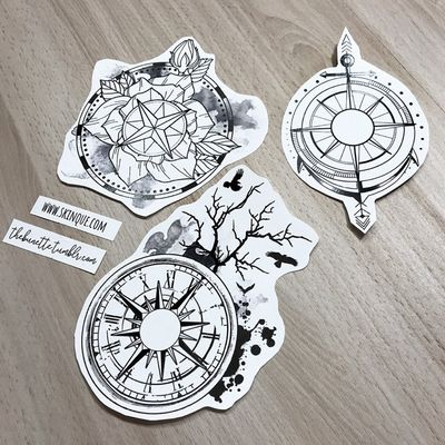 I made a Compass Collection so you can make your own compass tattoo! These are the ready-to-use designs that are includeed in the collection too! Go and get it www.skinque.com or ask for a commissions there too or help@skinque.com #blackwork #blackandgrey #compass #mountains #flowers #forest #tree #bird #travel #wanderlust #forearm #arrow #watercolor #clock #trashpolka #abstract #tree #raven