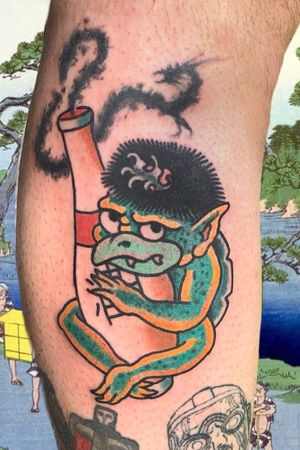 Kappa #italianjapanesetattoo #top_class_tattooing #japanart #topttattooing #topclasstattoing #bright_and_bold #americanatattoos #italian_traditional_tattoo #friendship #realtraditional #inked #oriemtaltattoo #tattoo #tattooes #tattooitaly #convention #tattoolife #tattoolifemagazine #inkart #tattooartistmagazine #bologna #tattoobologna #bolognatattoo #horrorvacuitattoo #tatuaggibologna #tttism #japanesetattoo