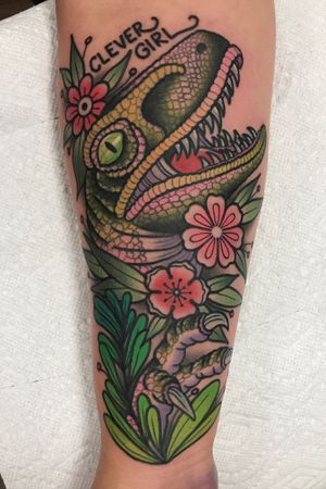 Clever girl with flowers