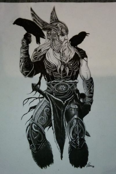 #Odin #Vikings #Nordic (drawn by me when I was 15)
