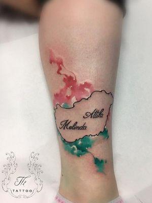 Tatuaj watercolor. #watercolortattoos #colortattoo #tattoo #tattooartist #tattooftheday #tatuaje #tatuajebucuresti #tattoosbucharest #ink #thtattoo #Tattoodo   #bucharest #salontatuajebucuresti  #salontatuaje #tatuajefete www.tatuajbucuresti.ro