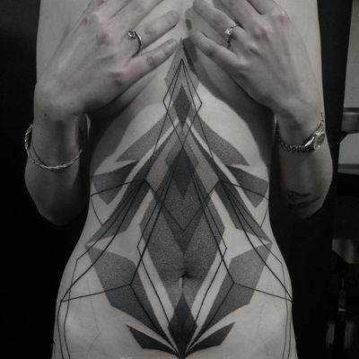Tattoo by Mare aka Pavla blk #Mare #Pavlablk #besttattoos #best #favorite #blackwork #dotwork #linework #sacredgeometry #shapes #pattern