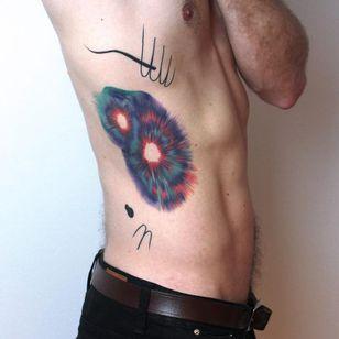 Tattoo by Paulina Szoloch aka ps oid #PaulinaSzoloch #psoid #abstracttattoos #abstracttattoo #abstract #shapes #surreal #strange #watercolor