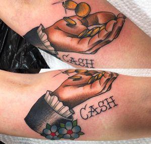 Johnny cash hand on forearm