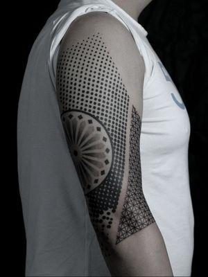 #dots #grid #sleeve #geometric #mandala #geometry