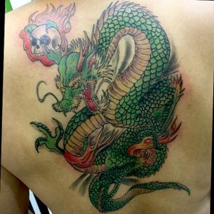 #dragontattoo #myfirsttattoo #killerink #dragon