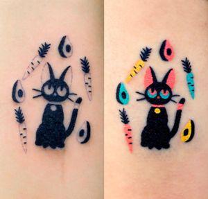 #cattattoo #cat #handpoke #zzizziboy