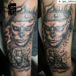 Zombie boy #tattoo #tattooed #tattoos #tatts #tattooartist #GasTattoos #lisbontattoo #worldfamousink #tattoogoofoam #tattoogoo #stencilstuff #blackandgrey #blackandgreytattoo