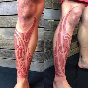 custom freehanded Tamoko traditional Maori Tattoo. Tamoko Sydney
