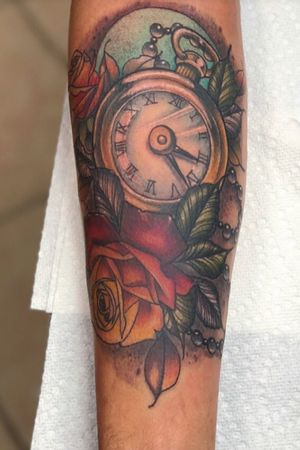 Pocket watch rose