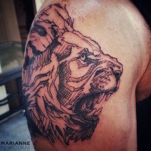 #tattoo #tattooed #tattooedman #tattooforever #tattooedforlife #tattooaddict #tattooaddiction #liontattoo #ink #inked #inkedman #inkaddict #InkAddiction