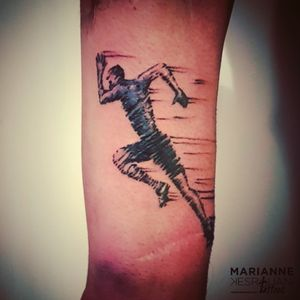 #tattoo #tattooed #tattooedman #tattooforever #tattooedforlife #tattooaddict #tattooaddiction #forearmtattoo #runner #ink #inked #inkedman #inkaddict #InkAddiction