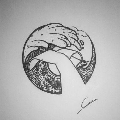 Ocean Espero que os guste..Cualquier aportación, comentario o consejo será bienvenido 👌 #tattoo #whale #nature #ocean #animaltattoo #design #diseñodetatuaje #dotwork #dotworktattoos #mar #ballena #cola #marinero #circle #circulo