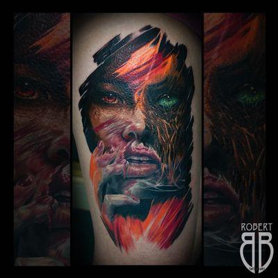 Half healed half fresh zombie 🧟♀️ #colortattoo #zombie #tattoo #tattoodesign #tattooart #tattoostyle #tattoostudio @leadinglightsandvika #balmtattoonordic @balmtattoo_nordic #fkirons #cheyennetattooequipment #fusionink #eternalink #ink #inked #inkedgirl #inkedup #tattooartist #tattoorobertbb #robertbbtattoo #robertbbtattooart #tattoodo