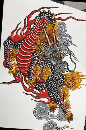 Kirin painting 22X30 watercolor