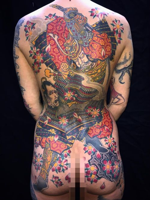 Tattoo by Stewart Robson #StewartRobson #ModernClassicTattoo #irezumi #Japanese #ukiyoe