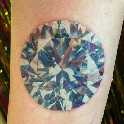 Tattoo by Shannon Perry #ShannonPerry #besttattoos #besttattoo #best #favorite #diamond #jewel #gem #realism #hyperrealism