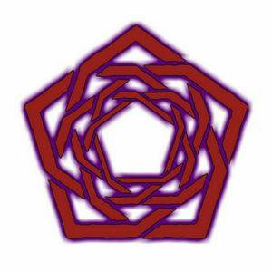 Багровый логотип Carpenter Brut с фиолетовым освещением 🌺💜