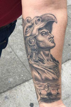 Aztec eagle warrior healed forearm piece