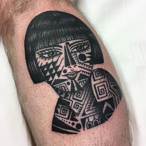 Tattoo by Lee Knight #LeeKnight #tattooedladytattoos #tattooedlady #tattooedgirl #tattoos #pinups #lady #ladyhead #ladyportrait #babe #tribal #maori
