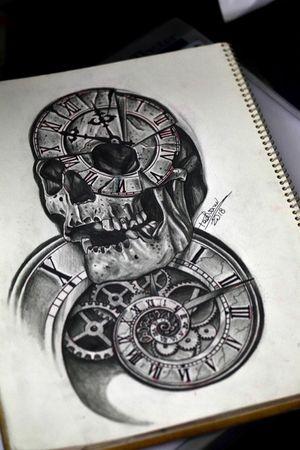 #skull #clock #tattoosketch #thiagopadovani