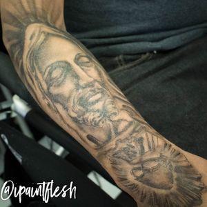 Religious test tattoo for a client. #airbrush #jesustattoo #JesusChrist #jesus