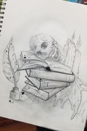 #skulladdict #skullart #skulls #skull #Gothic #pencildrawing #art #blackandgray #pencilart #nerdy #freehand #tattooartist #tattoodesign