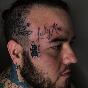 Diabinho/anjo #diabo #devil #anjo #angel #sticker #tatuagemnorosto #facetattoo #blackwork