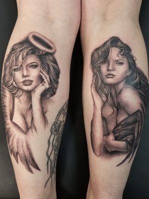 Angel and devil ladies
