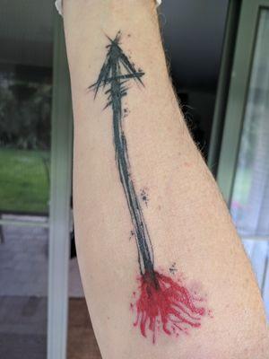 Brushwork arrow