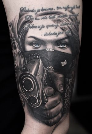Gangster bandana gun