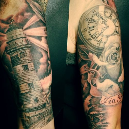 Tattoo Union 2238 s archer ave chicago Chinatown #chicagochinatow #tattoounion #chicagotattooartist  #chicagotattooshop #lighthouse #rose #horifong