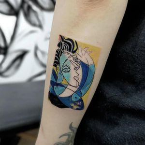 #picasso #painting #art #tattooart #color #colortattoo