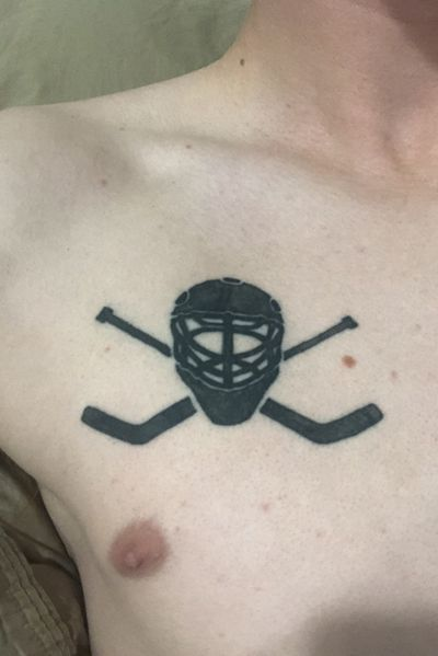 #hockey #hockeytattoo #chestpiece