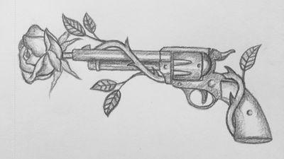 Guns n roses #drawing#gun#roses