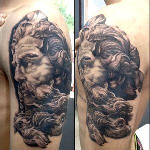 Zeus, Poseidon, tattoo