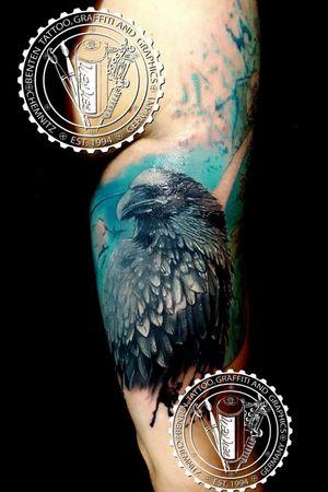 #realistic #crowtattoo #crow #benten #friedrichbenzler #chemnitz #tattoo #leipzig #dresden #zwickau #plauen