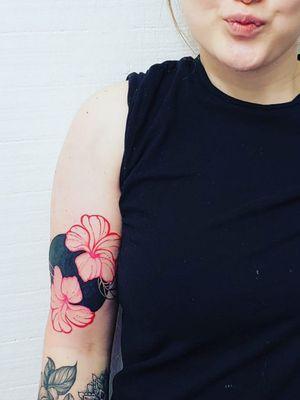 Modern tattoo modern floral modern plumeria blackwork tattoo