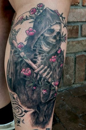 Finished this reaper. #skull #reaper #tattooartist #neotraditional #surrealism