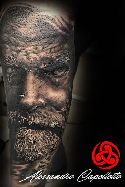 Odin...#Odin #odintattoo #viking #blackandgrey