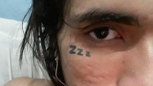 Minha tattoo no rosto