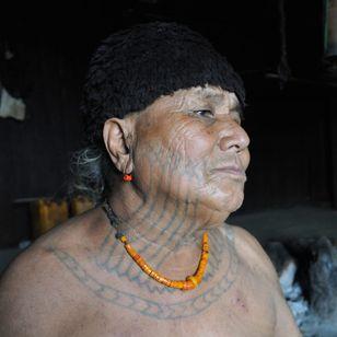 U Hla Bu, Macham chief of Lon Khin village. MYANMAR. Photo: © Lars Krutak 2014. #LarsKrutak #tattoohistory #tattooculture #tattooanthropologist