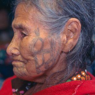 Anna Aghtuqaayak (Qayaghhaq) was the last fully tattooed woman to live on St. Lawrence Island in the Bering Sea. ALASKA, USA. Photo: © Lars Krutak 1997. #LarsKrutak #tattoohistory #tattooculture #tattooanthropologist